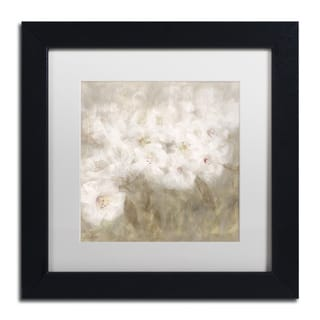 Li Bo 'Wild Flowers I' Matted Framed Art
