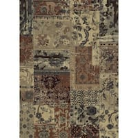 Rizzy Home Beige Bennington Collection Power-Loomed Rug - 5'3 x 7'7
