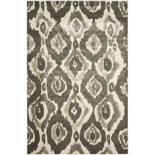 Safavieh Porcello Abstract Ogee Ivory/ Dark Grey Rug (8'2 x 11')