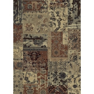 Rizzy Home Bennington Collection Beige Power-Loomed Accent Rug (6'7 x 9'6)