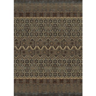 Blue Rizzy Home Bennington Collection Power-Loomed Accent Rug (6'7 x 9'6)