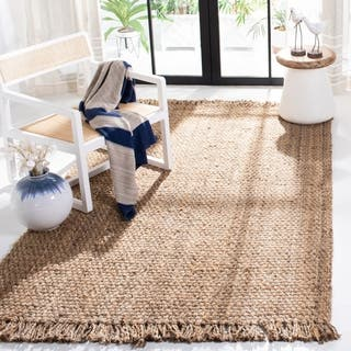 Safavieh Casual Natural Fiber Hand-Woven Natural Jute Rug (8' x 10')|https://ak1.ostkcdn.com/images/products/10215941/P17338215.jpg?impolicy=medium
