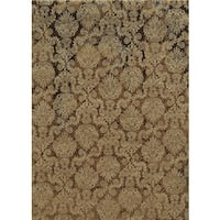Rizzy Home Beige Bennington Collection Power-Loomed Accent Rug - 9' x 12'