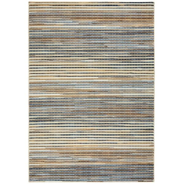 """Grey Rizzy Home Bennington Collection Power-Loomed Accent Rug (7'10 x 10'10) - 7'10"""" x 10'10"""""""