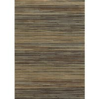 Grey Rizzy Home Bennington Collection Power-Loomed Accent Rug (7'10 x 10'10)