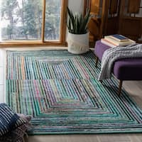 Safavieh Handmade Nantucket Teal Cotton Rug - 8' x 10'