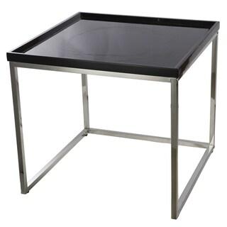 Demmi Wood Chrome Nesting Table