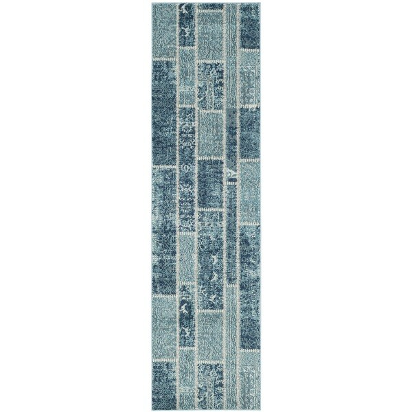 Safavieh Monaco Patchwork Blue/ Multicolored Rug (2'2 x 8')