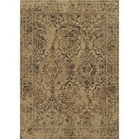 Beige Rizzy Home Bennington Collection Power-Loomed Accent Rug (9'10 x 12'6) - 9' x 12'