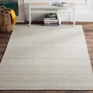 Safavieh Hand-Woven Kilim Ivory/ Silver Wool Rug (8' x 10')