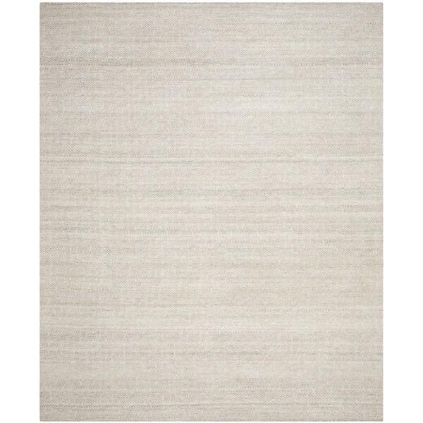 Safavieh Hand-Woven Kilim Ivory/ Silver Wool Rug - 8' x 10'