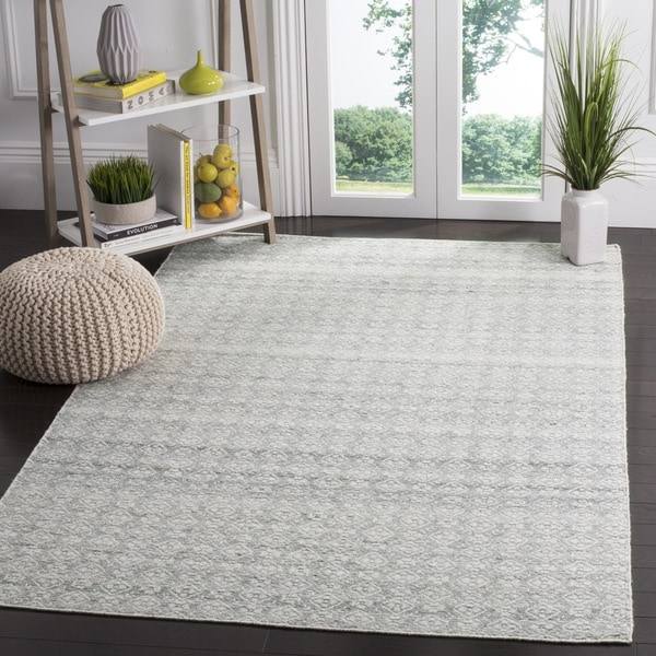 Rugs At Home Goods: Safavieh Hand-Woven Kilim Ivory/ Silver Wool Rug