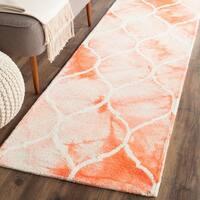 """Safavieh Handmade Dip Dye Watercolor Vintage Orange/ Ivory Wool Rug - 2'3"""" x 8'"""