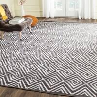 Safavieh Hand-Woven Kilim Charcoal Wool Rug - 8' x 10'