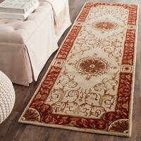 Safavieh Handmade Empire Ivory/ Red Wool Rug (2'6 x 8')