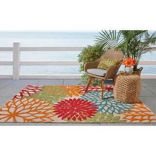 Nourison Aloha Indoor/Outdoor Green Rug - 2'8 x 4'