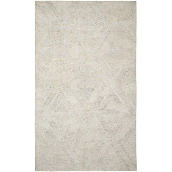 Safavieh Hand-Woven Kilim Ivory/ Light Grey Viscose Rug (8' x 10')