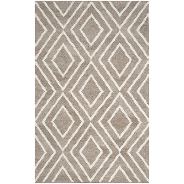 Safavieh Hand-Woven Kilim Ivory/ Grey Viscose Rug (8' x 10')