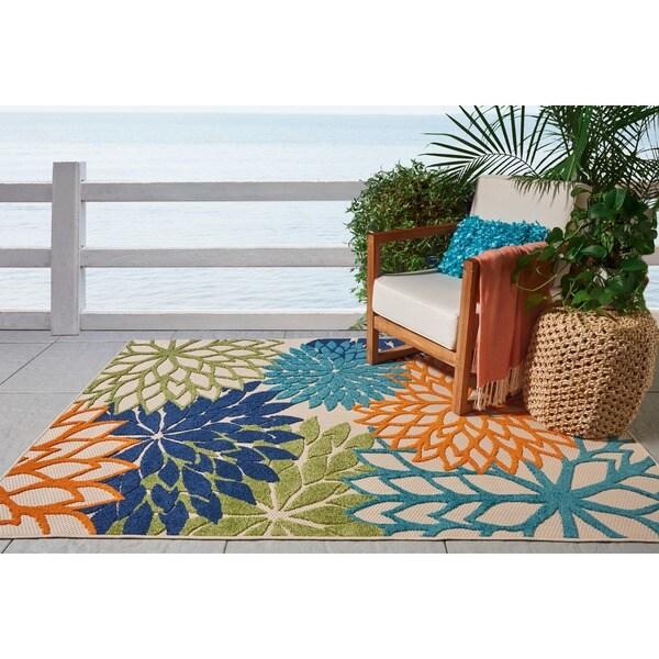 Nourison Aloha Indoor/Outdoor Multicolor Rug - 2'8 x 4'