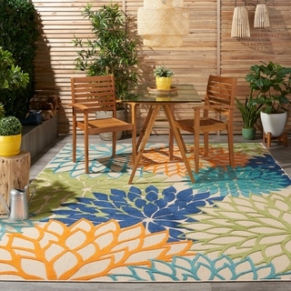 Nourison Aloha Floral Indoor/ Outdoor Area Rug