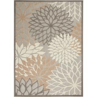 Nourison Aloha Floral Indoor/Outdoor Area Rug (Cream/Grey - 36 x 56)