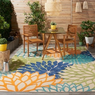 Link to Nourison Aloha Floral Abstract Indoor Outdoor Area Rug Similar Items in As Is