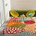 Nourison Aloha Indoor/Outdoor Green Rug (5'3 x 7'5)