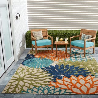 Nourison Aloha Fl Multicolor Indoor Outdoor Rug 5 3 X