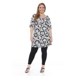 White Mark Women's Plus Size 'Thyra' Dress/Tunic