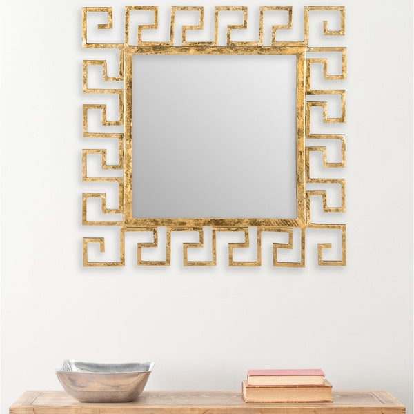 "Safavieh Calliope Greek Key Antique Gold 23-inch Square Decorative Mirror - 23"" x 0.5"" x 23"""