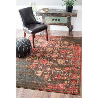 nuLOOM Traditional Persian Modern Vintage Multi Rug (5'3 x 7'7)
