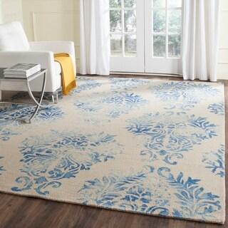 Safavieh Handmade Dip Dye Watercolor Vintage Beige/ Blue Wool Rug (8' x 10')