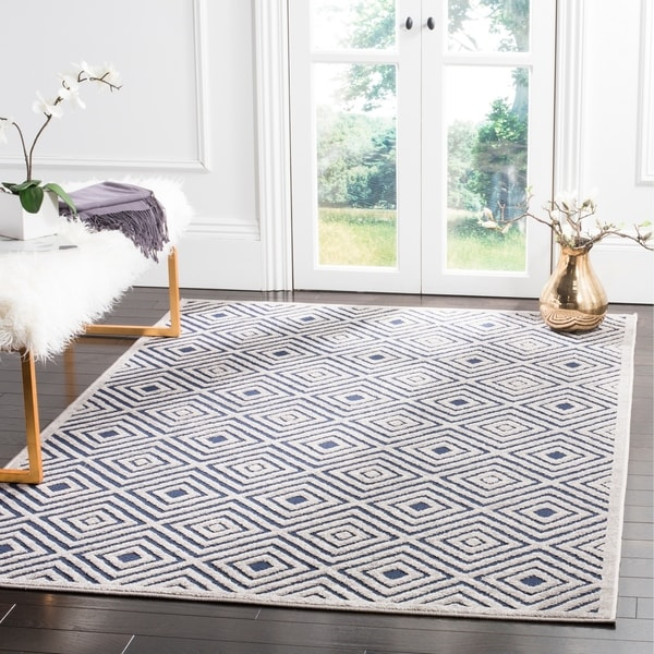 Safavieh Cottage Cream/ Navy Rug - 8' x 11'2