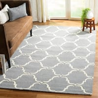 Safavieh Handmade Cambridge Teal/ Ivory Wool Rug - 8' X 10'