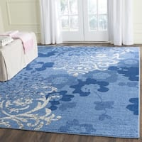Safavieh Adirondack Vintage Damask Light Blue/ Dark Blue Rug - 8' x 10'