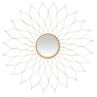 Safavieh Handmade Arts and Crafts Gold Flower 25-inch Mirror