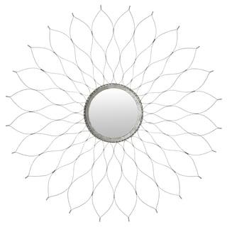 Safavieh Handmade Arts and Crafts Silver Flower 35-inch Mirror
