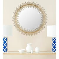 Safavieh Sunray Circle Antique Gold 31-inch Mirror