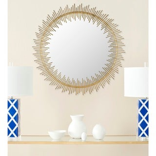 "Safavieh Sunray Circle Antique Gold 31-inch Round Decorative Mirror - 31"" x 1"" x 31"""
