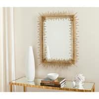 "Safavieh Sunray Antique Gold Rectangular Mirror - 27"" x 1"" x 35"""
