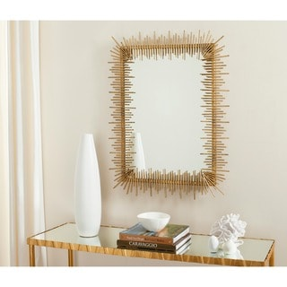 "Safavieh Sunray Antique Gold 27 x 35-inch Rectangle Decorative Mirror - 27"" x 1"" x 35"""