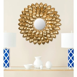 Safavieh Woodland Sculptured Antique Gold 29-inch Sunburst Mirror