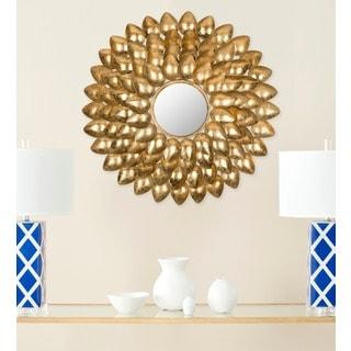 Woodland Sunburst Antique Gold Mirror