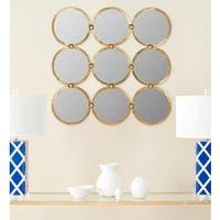 Safavieh Circles In The Square Antique Gold 27.5-inch Mirror