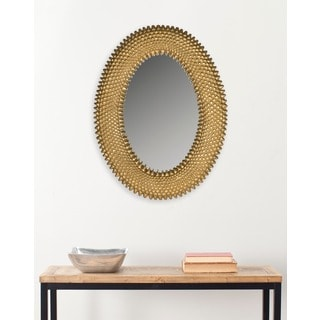 Perugia Oval Antique Gold Mirror