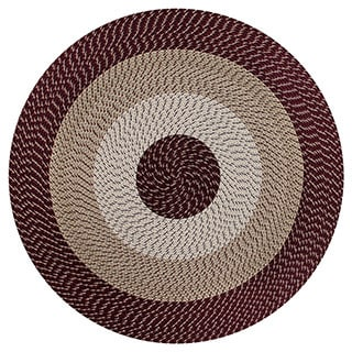 Stripe Indoor/ Outdoor Braided Rug (6' Round)