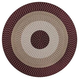 Stripe Indoor/ Outdoor Braided Rug (6' Round)