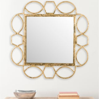 Alexandria Fretwork Antique Gold Mirror