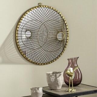 Safavieh Gemini Gold 22.5-inch Round Mirror