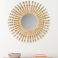 Safavieh Rayos Antique Brass Inca 36-inch Sunburst Mirror
